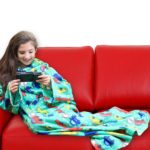 DG Sports Wearable Fleece Blanket for Kids with Sleeves and Pockets