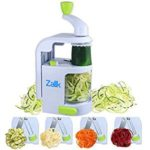 Zalik Spiralizer 4 IN 1 Blade Dial - Small Professional Vegetable Slicer With Powerful Suction Base -