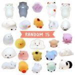 Squishies 15 pcs random pack [EXTRA Squishy] Super Cute Kawaii Animals